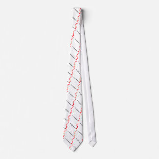 Needle Hearts (black) Tie