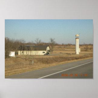 Needle In The Haystack Silo Se Kansas Poster