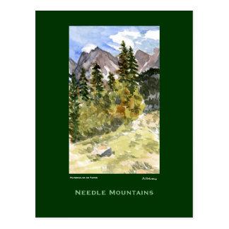 Needle Mountains Watercolor Plein Air Postcard