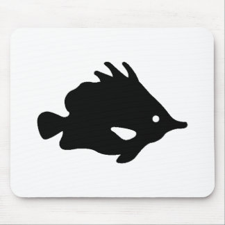 Needle Nose Fish Silhouette Mouse Pads