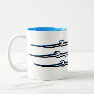 Needlefish Trio Two-Tone Mug