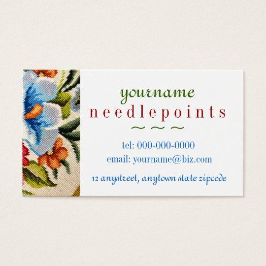 Needlepoint Business Card