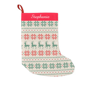 Needlepoint Look Christmas Stocking
