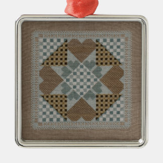 Needlepoint star ornament