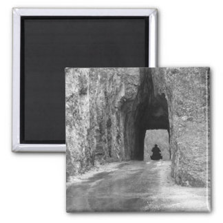 Needles Highway Tunnel Square Magnet
