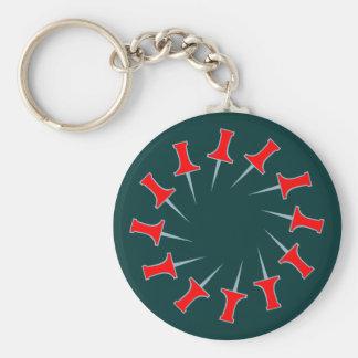 Needles pin circle circle keychains