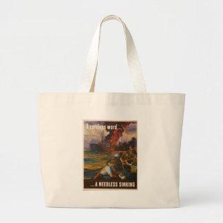 Needless Sinking World War 2 Tote Bags