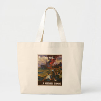 Needless Sinking World War 2 Jumbo Tote Bag