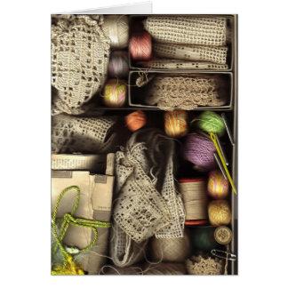 Needlework Box Greeting Card