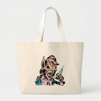 Needling Werewolf Large Tote Bag