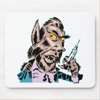 Needling Werewolf Mouse Pads