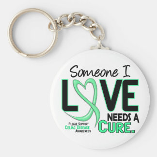 NEEDS A CURE 2 CELIAC DISEASE T-Shirts & Gifts Basic Round Button Key Ring