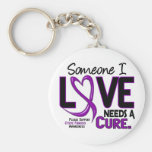 NEEDS A CURE 2 CYSTIC FIBROSIS T-Shirts & Gifts Basic Round Button Key Ring