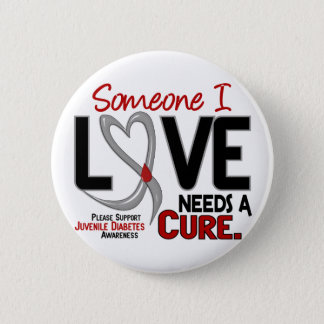 NEEDS A CURE 2 JUVENILE DIABETES T-Shirts & Gifts 6 Cm Round Badge