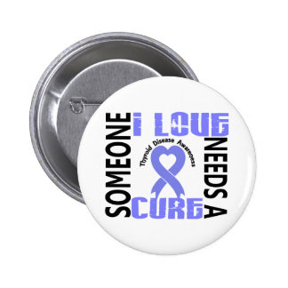 Needs A Cure 4 Thyroid Disease 6 Cm Round Badge