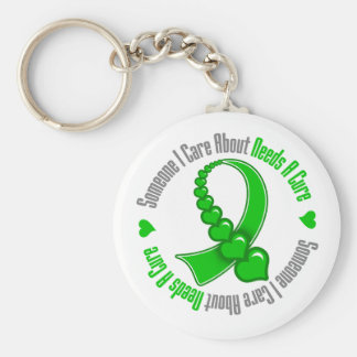 Needs A Cure Traumatic Brain Injury Key Chains