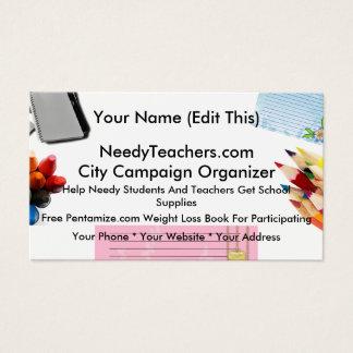 NeedyTeachers.com Campaign Organizer Cards