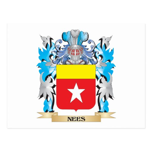 Nees Coat of Arms - Family Crest Post Card