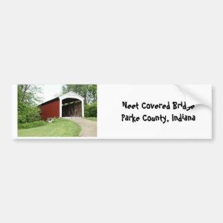 Neet Bridge, Parke County Bumper Sticker