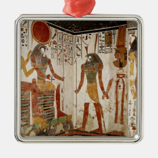 Nefertari is brought before the god christmas ornament