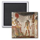 Nefertari is brought before the god fridge magnets