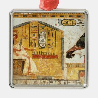 Nefertari playing senet christmas ornament