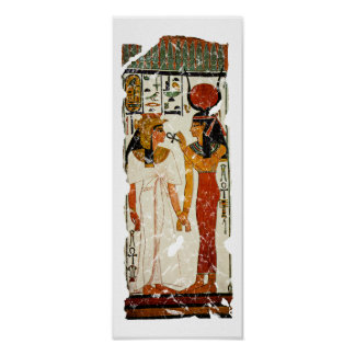 Nefertari with Isis Poster