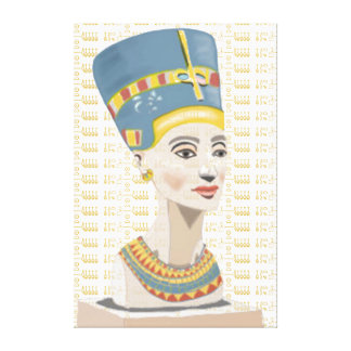 Nefertiti and Gold Tiled Cartouche Canvas Print
