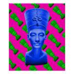 Nefertiti Blue Poster