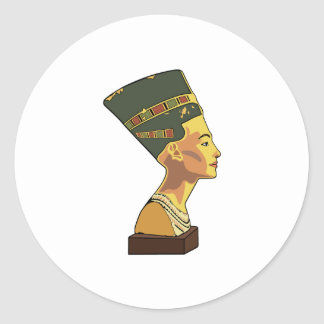 Nefertiti Classic Round Sticker