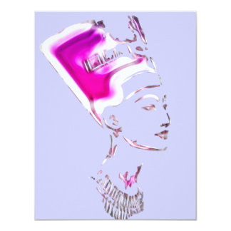 Nefertiti 'Egyptian Goddess' Design 11 Cm X 14 Cm Invitation Card