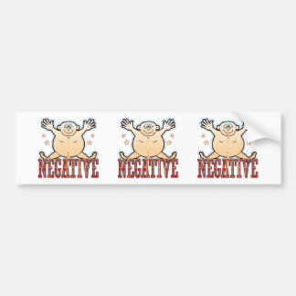 Negative Fat Man Bumper Sticker