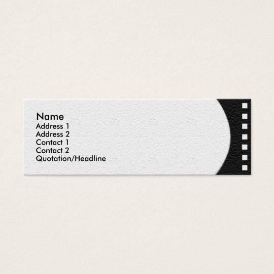 Negative Film Strip Profile Card