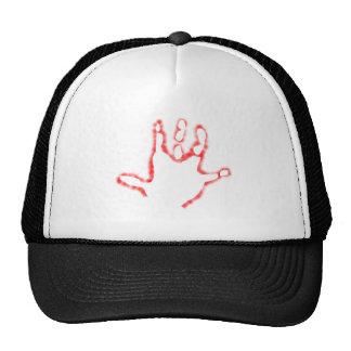 negative hand casting negative hand print trucker hat