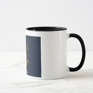 Negative space art-Ringer Mug