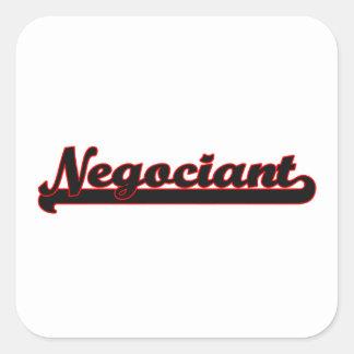 Negociant Classic Job Design Square Sticker