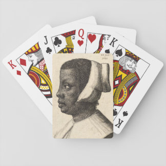 Negress by Wenceslaus Hollar Playing Cards