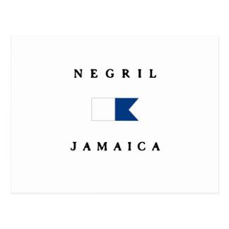 Negril Jamaica Alpha Dive Flag Postcard