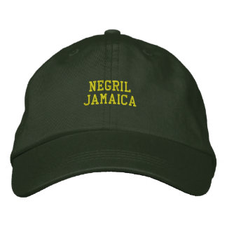 Negril Jamaica Embroidered Embroidered Hat