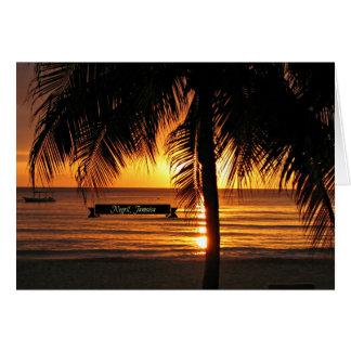 Negril, Jamaica sunset Card