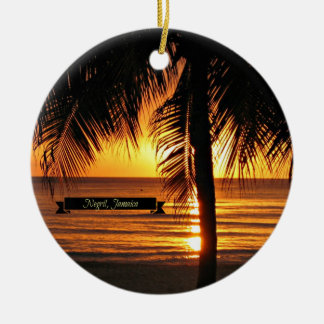 Negril, Jamaica sunset Christmas Ornament