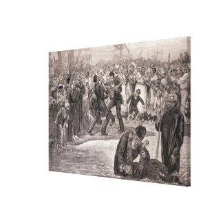 Negro Baptism in the United States Canvas Print