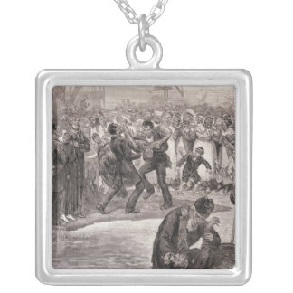 Negro Baptism in the United States Silver Plated Necklace