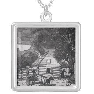 Negro Cabin Silver Plated Necklace
