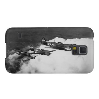 Negro Pilots in Shark-Nosed P-40 Fighter Aircraft Galaxy S5 Cover