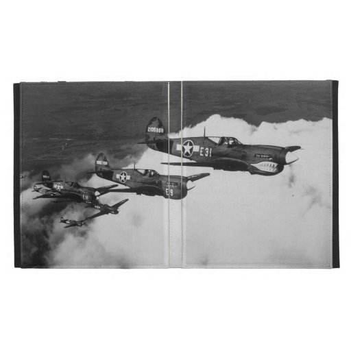 Negro Pilots in Shark-Nosed P-40 Fighter Aircraft iPad Cases