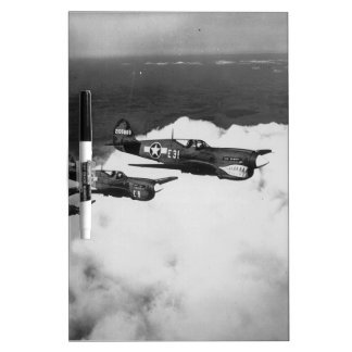 Negro Pilots in Shark-Nosed P-40 Fighter Aircraft Dry-Erase Board