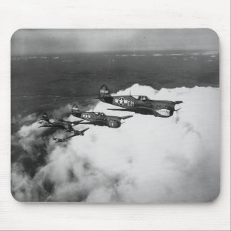 Negro Pilots in Shark-Nosed P-40 Fighter Aircraft Mouse Pad