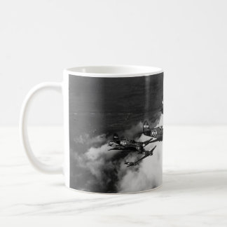 Negro Pilots in Shark-Nosed P-40 Fighter Aircraft Coffee Mug