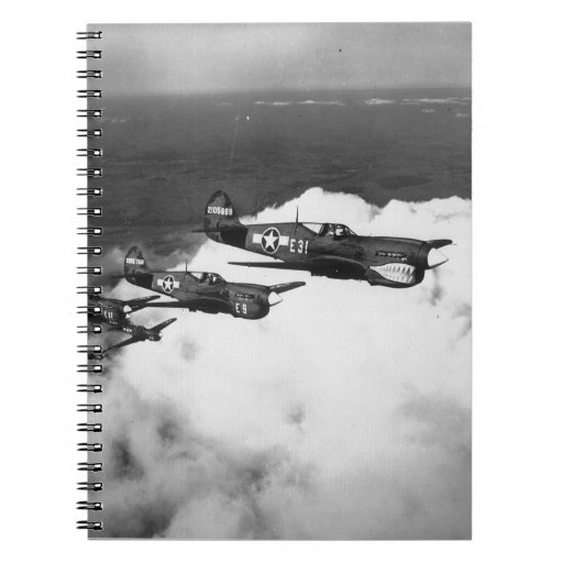 Negro Pilots in Shark-Nosed P-40 Fighter Aircraft Notebook